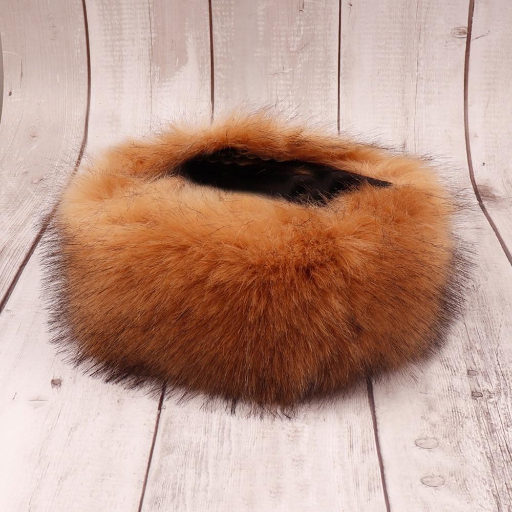 a51a4405eb3 Winter Fox Faux Fur Headband For Lady Women Earmuff Wide Hairbands Warmer  Ear Turband Russian Cossack Style Hat Hair Accessories-in Women s Hair  Accessories ...