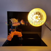 Dragon Ball Z Son Goku Table Lamp Luminaria LED Nightlight Kamehameha Anime Dragon Ball Z Goku Room Decorative Gift