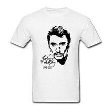 40494a41dbf3 Johnny Hallyday T Shirt XXXL Short Sleeve Custom Brand Clothing Hipster  Random O-neck Cotton
