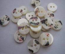 Free shipping 12mm mother of pearl shell button flat trocas shell two holes natural white color customed shell 100pcs