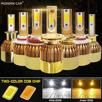 VOITURE MODERNE Canbus lampada H4 H7 LED Phare De Voiture 12 V 8000LM 4300 K 6000 K Lampe H3 H1 9005 HB3 9006 HB4 H8 H11 bicolore ampoule