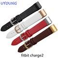 Para Fitbit Carga 2 Qualidade Genuína Pulseira de Couro Pulseira 20*18mm pulseira de couro Ultrafinos com adaptador