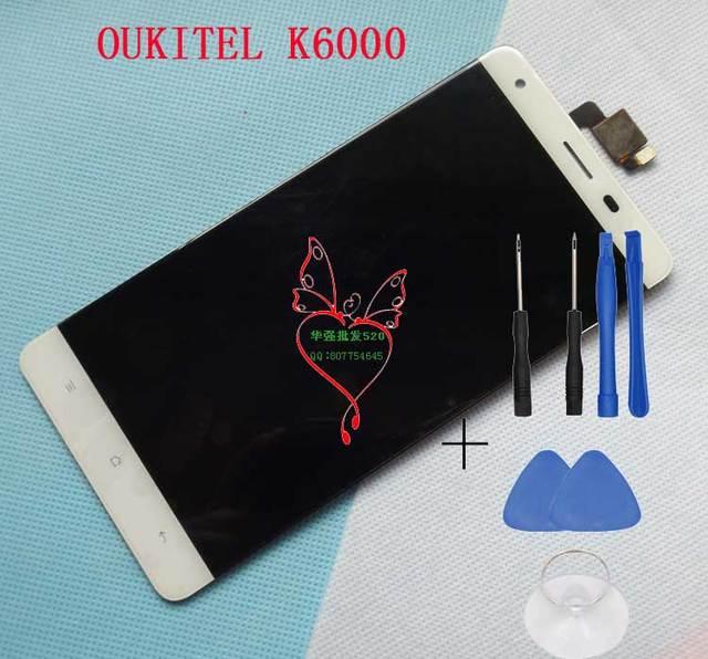Oukitel K6000 LCD Display com Tela Sensível Ao Toque de 100% Tela de LCD Original Para K6000 Oukitel Smartphone Frete Grátis