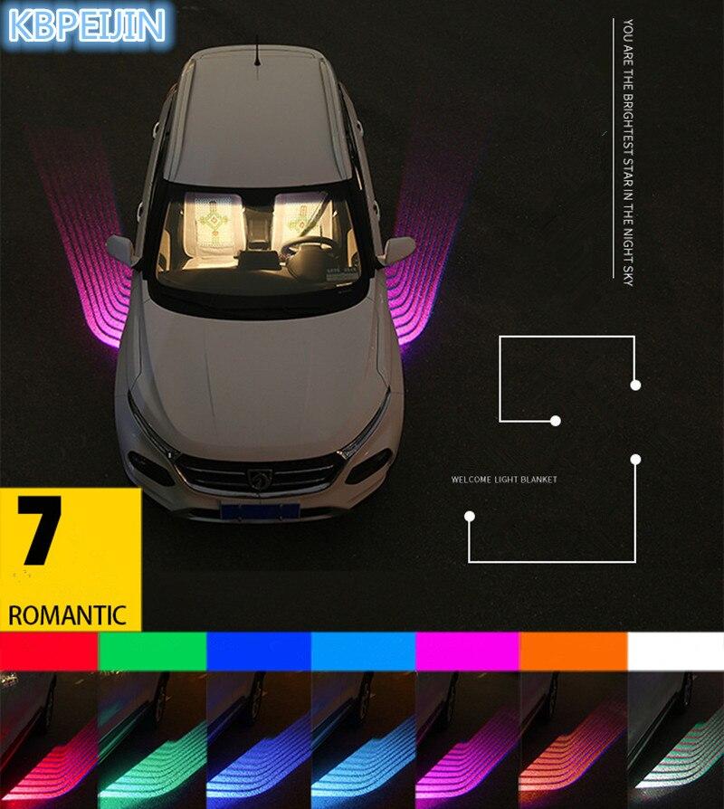 Car Styling Voiture Ange Ailes lumières LED bienvenue Projecteur de Lumière pour Vw polo tiguan golf 7 4 6 passat b6 b5 b7 touran Accessoires
