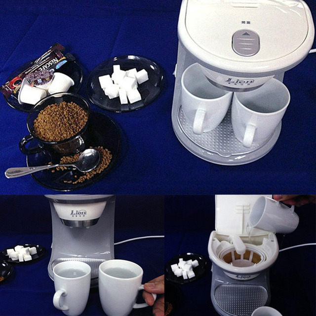 Glantop High Quality 2 Cups Coffee Machine( Ceramic Cup),American or Nescafe Drip Coffee Maker Machine, Free Shipping