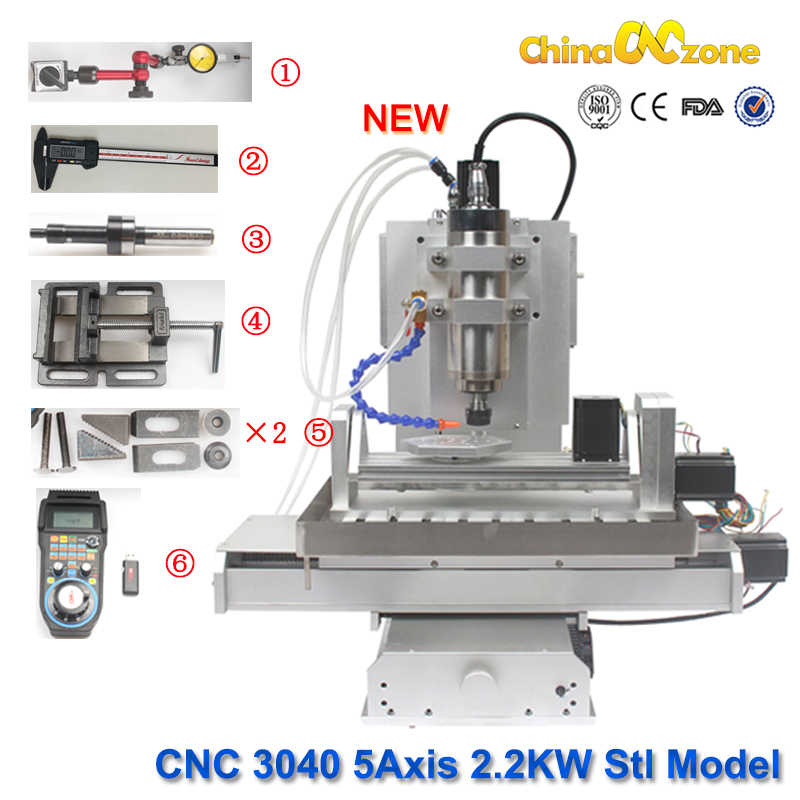 CNC 3040 5 axis router 2 2KW Milling machine 3d stl model