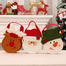 40PCS Lovely Christmas Candy Bag Canvas Gift Bags Santa Deer Elk New Year Xmas Nevidad Best Gifts For Kids Event Party Decor