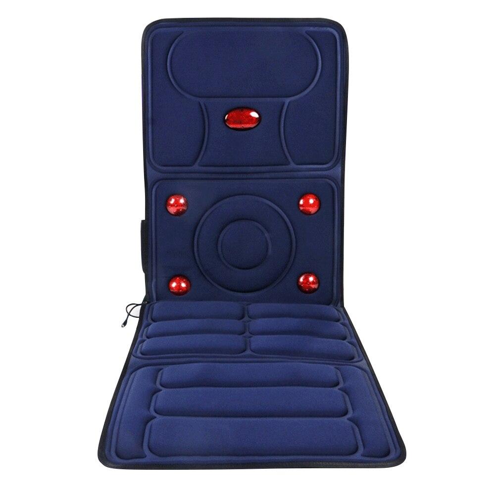 Electric Vibrator Massager for Neck Infrared Heating Massage Pillow Relief Pain Back Massger Magnetic Vibration Massageador