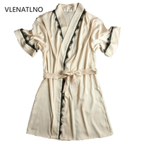 Silk Bathrobe Women Satin Kimono Robes For Women Robes Bridesmaids Long Kimono Robe Bride Silk Robe