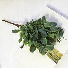 Искусственные растения, дешевые пластиковые искусственные зеленые листья, наружные цветы для дома, сада, стены, деревья, свадебное украшение стола