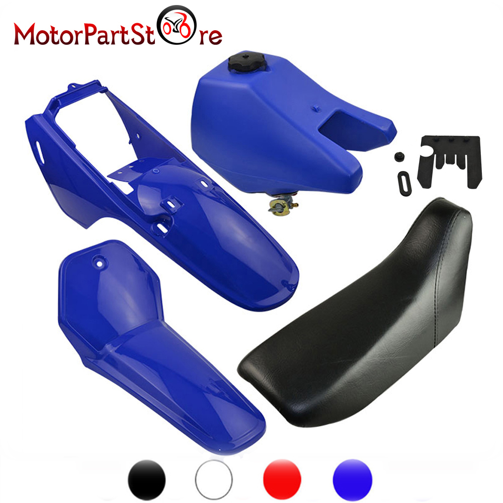 Complete Plastic Body Fenders Shell Cover Gas Fuel Tank Seat Kit for YAMAHA PW80 PW PY 80 PY80 PEEWEE Dirt Bike Motorcycle beler motorcycle motocross push pull throttle cable assembly assy fit for yamaha pw80 1985 2007 bw80 1986 1990 dirt motor bike