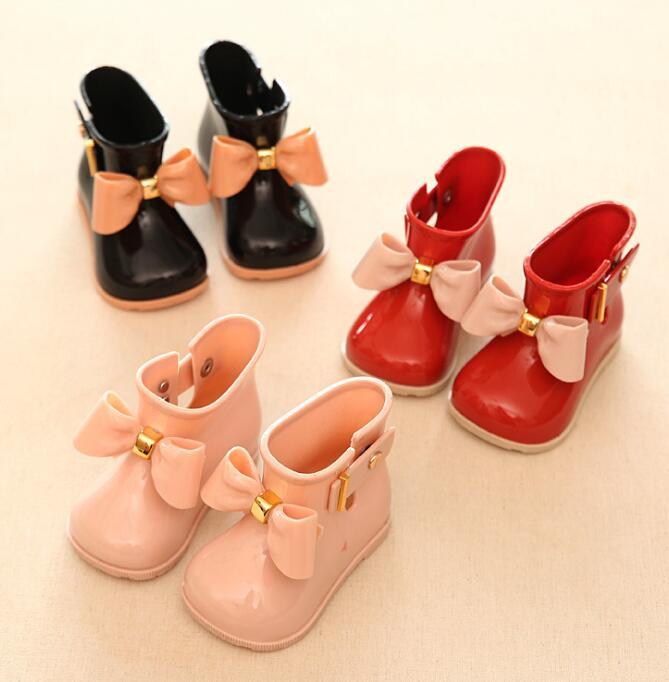 Moda Bambini bambino Stivali da pioggia bambino ragazze Caldo - Scarpe per bambini