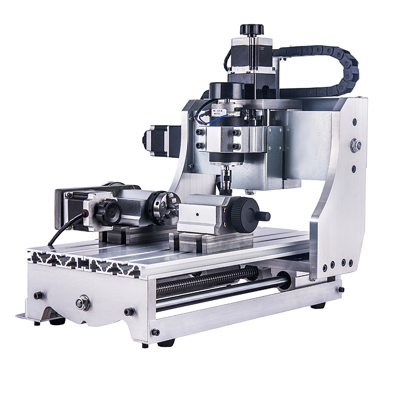 4 Axis Mini Cnc Router 3020 300w Spindle Woodworking Lathe