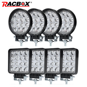 Image 1 - 4 Inch 42 48W Offroad LED Work Light Spotlight Flood Spot Beam Drive Lamp for JEEP UAZ 4x4 Car 4WD Boat SUV ATV Truck Motorcycle