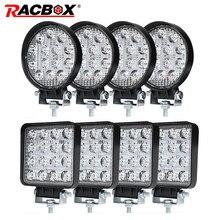 4 zoll 42 48W Offroad LED Work Strahler Flutlicht Spot Strahl Stick Lampe für JEEP UAZ 4x4 auto 4WD Boot SUV ATV Lkw Motorrad