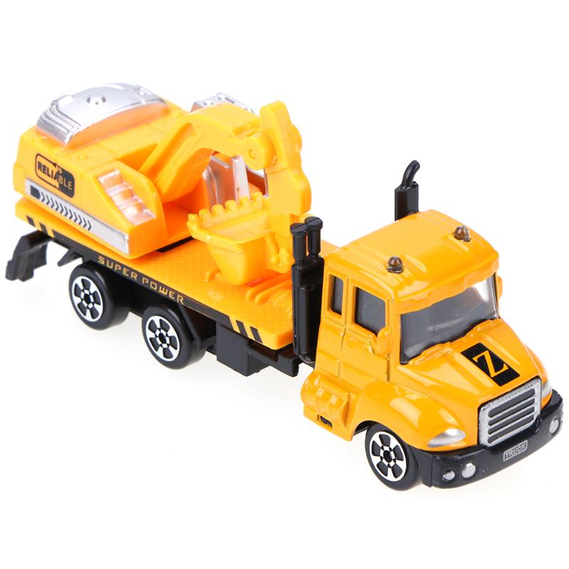Mini Alloy Construction Vehicle Engineering Car Excavator Truck Model Children Educational Diecast Vehicles for Boys