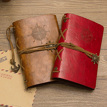 Retro Anchor Faux Leather Cover Notebook Journal Diary Blank String Nautical