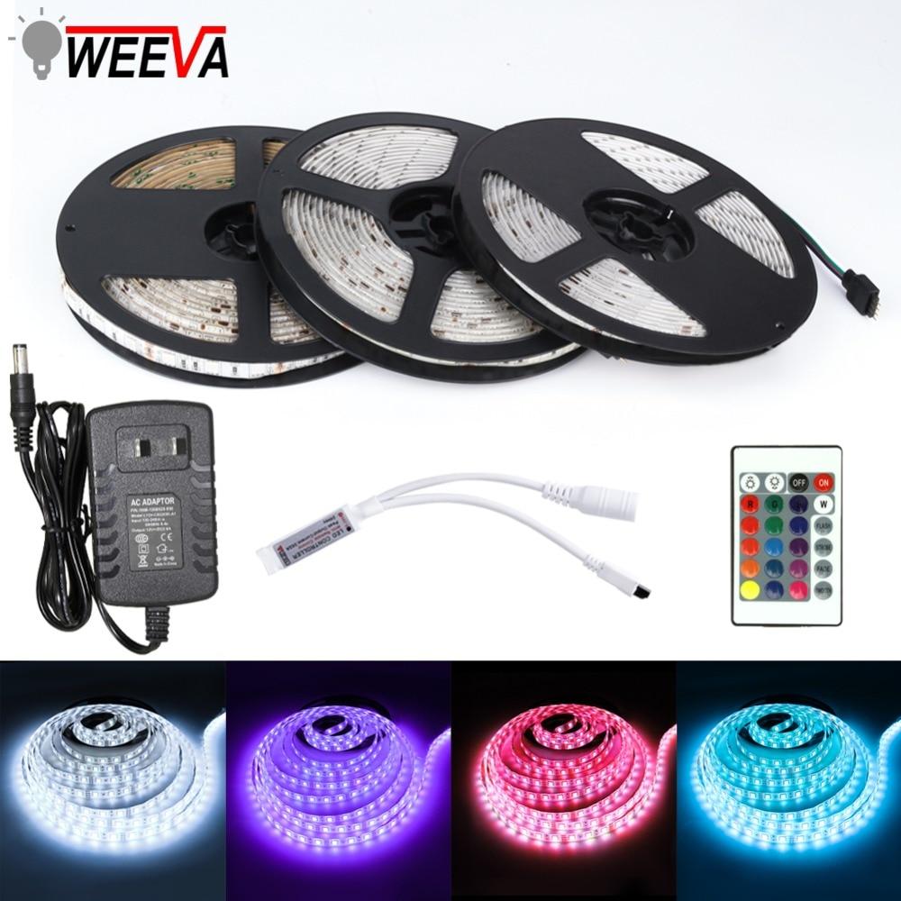 5M RGB 5050 Waterproof LED Strip light SMD 44 Key Remote 12V 3A Power Full Kit 1