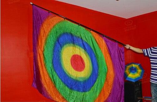 Arc-en-ciel soie Production (1.6*1.4 m) carré multicolore drapeau tours de magie apparaissent drapeau Magia scène partie Gimmick Illusions drôle