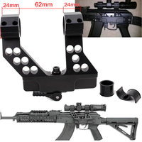New Hunting Quick Detach AK Side Rail Scope Mount with Integral 1 Inch 25mm/30mm Ring For AK47 Black Free Shipping