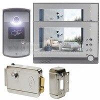 2015 New Electric Lock 7 Inch LCD Display Video Door Phone Visual Intercom Doorbell RFID IR
