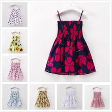ce5fff90c8b0f 1-7Y طفل طفلة اللباس الأبيض الأميرة الوردي الزهور فساتين الصيف الاطفال  الفتيات الملابس الأحمر