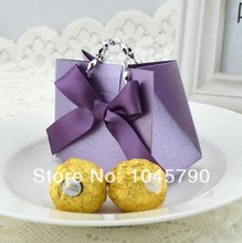 20X Purple Fashion, European Small Carry Bag Candy Boxes