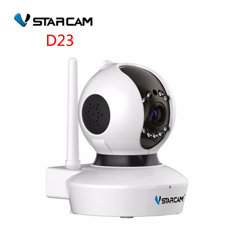 VStarcam IP Security Camera 720P 1MP WiFi HD Network Onvif P2P Motion Detection CCTV Night Vision IR Control Home Cam ,SN;D23 hd 720p onvif 2 0 security antenna ip camera wifi cmos night vision h264 ptz motion detection ir indoor security camera