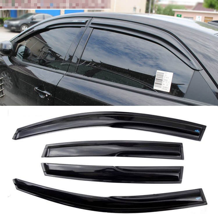 4pcs Windows Vent Visors Rain Guard Dark Sun Shield Deflectors For Kia Forte act 4 for windows for dummies