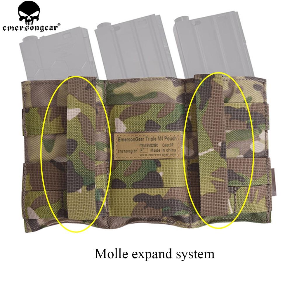 EMERSONGEAR Triple M4 Mag Pouch Tactical Molle Snabblastning Magazine - Jakt - Foto 3