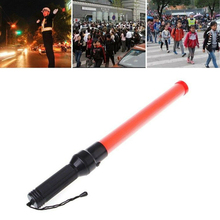 LED Light Signal Warning Safe Supplies Control Stick Guard Night Glow Sticks Safety Road Police Traffic Wand led traffic warning light aluminum alloy flashlight outdoor lighting traffic control lights without battery road safety