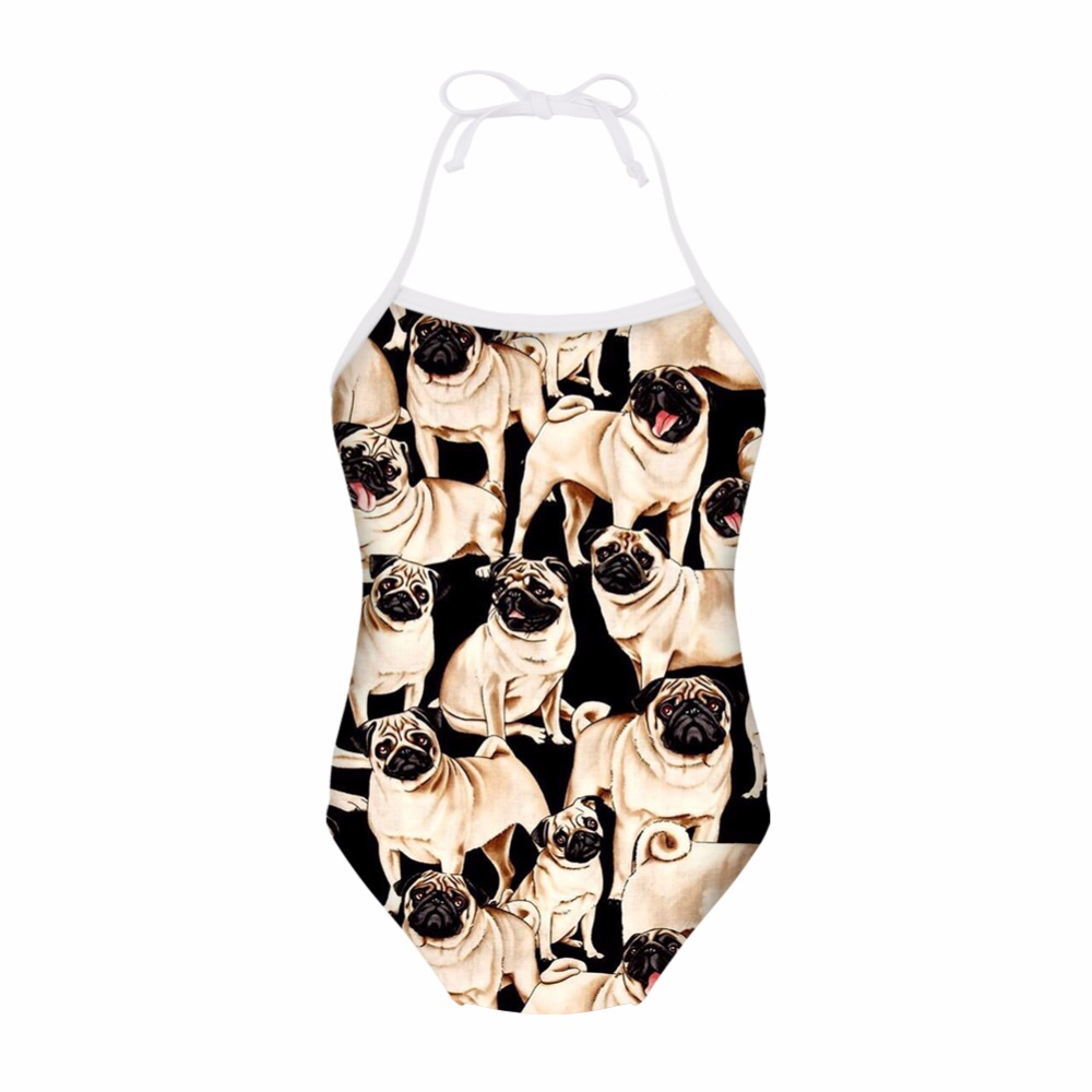 c1de17b50c504 FORUDESIGNS Swimsuit Kids One Piece Baby Swimwear Cute Pug Dog Animal Print  Children Bathing Suit for Girls Beachwear Swim Suit