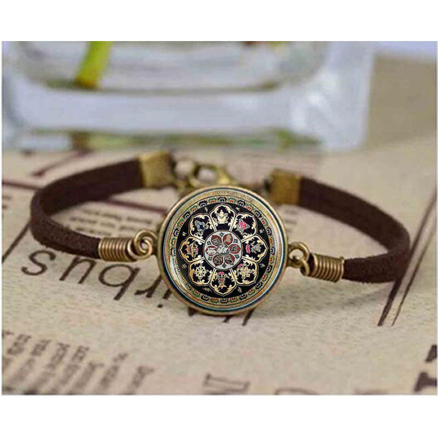 grass image bracelet mandala products golden