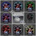 GRe**y Gauge Fuel Press Gauge GReddi 7 Light Color LCD Display With Voltage Fuel Pressure 62mm 2.5 Inch With Sensor Racing Gauge