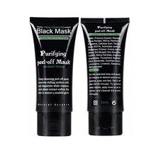 2016 Tearing Style Deep Cleansing purifying peel off Black mud Facial face black mask Remove blackhead facial mask black head