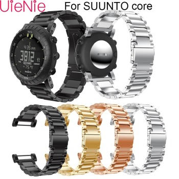 Stainless steel watch band For Suunto Core smart watch strap Bracelet Wristband Adjustable Replacement strap For Suunto Core for suunto core camouflage strap for suunto core frontier classic smart sports silicone replacement wristband strap accessory