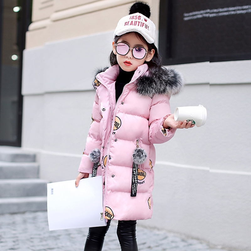 Famli 2018 Winter jacket for girls clothes Cotton Padded Hooded Kids Coat Children clothing girl Parkas enfant Jackets & Coats