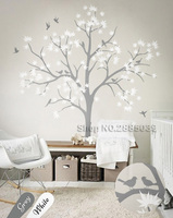 Large Trees Nursery Wall Decor White Tree Wall Stickers For Kids Room Living Room Wall Tattoo Art Murals DIY Self adhesive LC581
