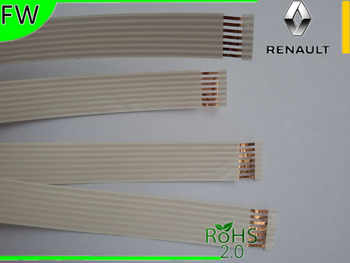 3pcs FFC Cable 7 pin,1.27mm pitch,9.0mm width.long51-53cm for Renault Megane II free shipping