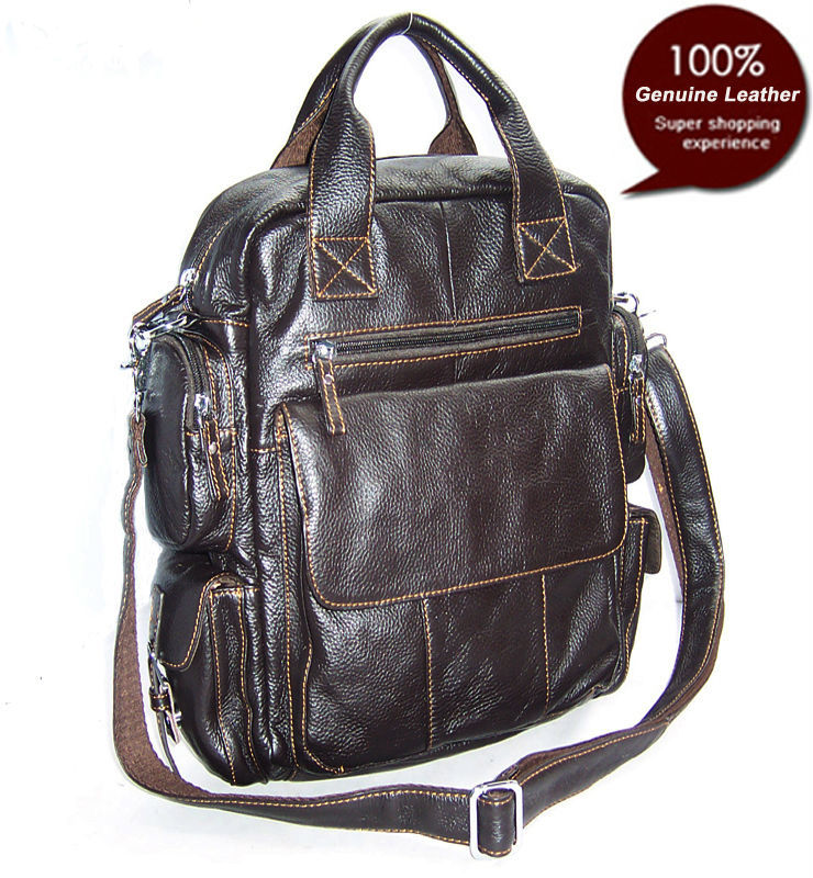 Obedient New 2015 Genuine Leather Backpack Fashion Men Backpack Mochila School Bag Travel Backpack School Male Rucksack Brown Luggage & Bags Men's Bags