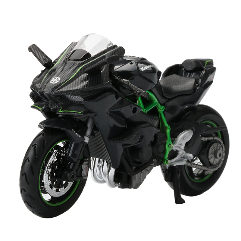 Maisto <font><b>1:18</b></font> Scale Motorcycle Toy Alloy Ninja H2R Motorbike <font><b>Model</b></font> Motor Cycle <font><b>Car</b></font> Collection Kids Toys image
