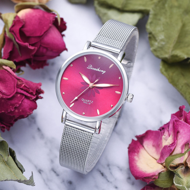 Hot Luxury Fashion Women Watch Stainless Steel Analog Quartz Wristwatch Bracelet simple Design Female Elegant Clock Belbi 30Q