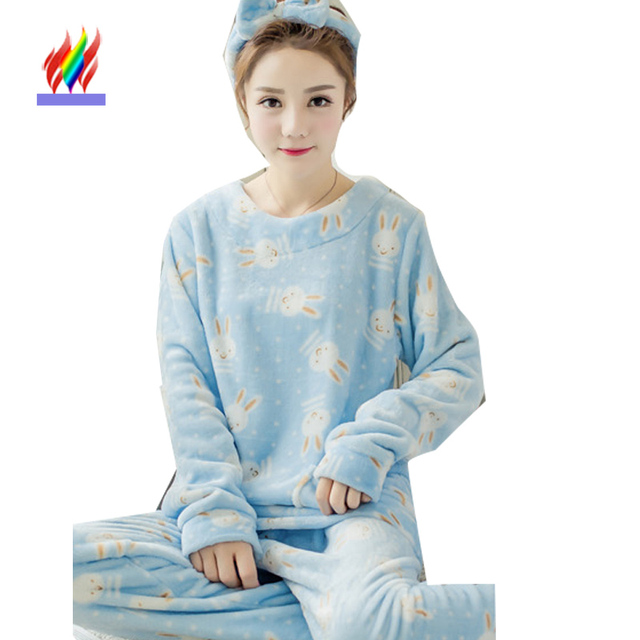 6f73fdcc5 Winter Christmas Pyjamas Women Fashion Korean Style Long Sleeve ...