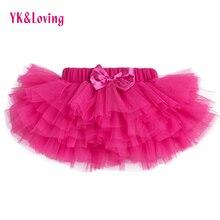 Юбка-американка для маленьких девочек 3 цвета юбка-пачка красная роза новорожденных шифон 6 слой юбки для маленьких девочек одежда для дня рождения