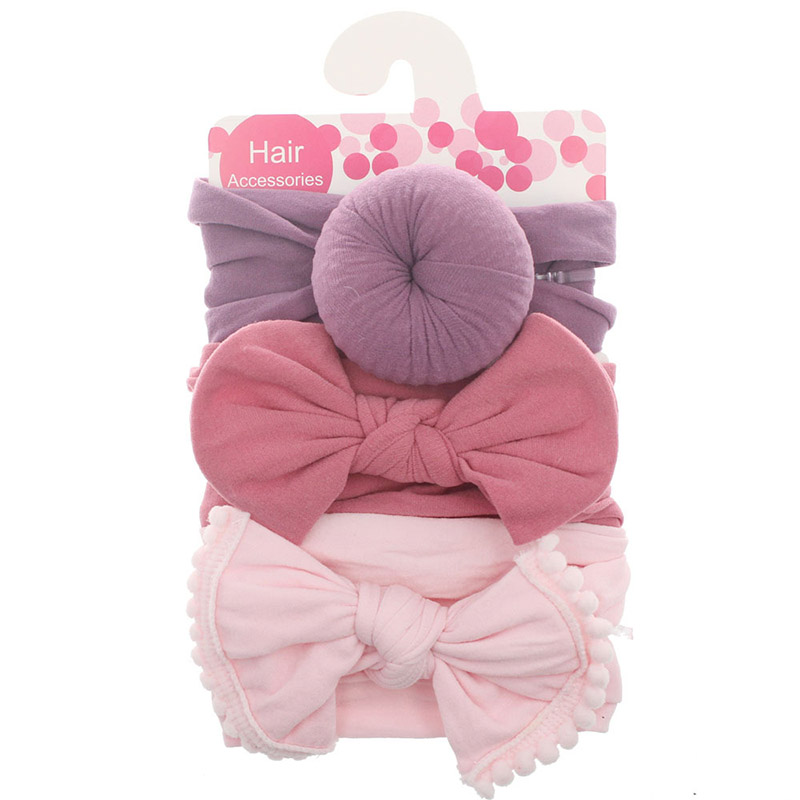 3 pçs/set elestic macio náilon bandana do bebê arcos bowknot floral atado recém-nascido menina headbands meninas acessórios de cabelo