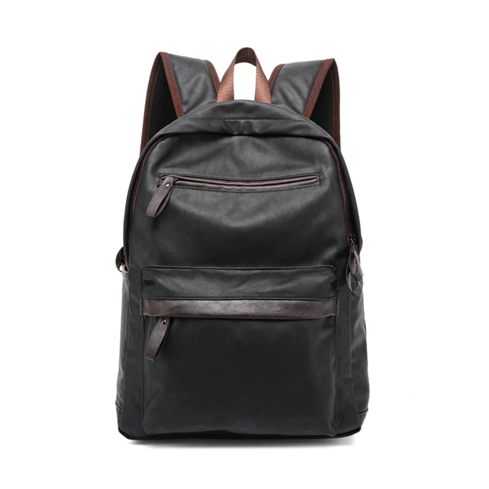 ZENTEII Men's Faux Synthetic Leather Backpack zenteii women faux synthetic leather pu backpack
