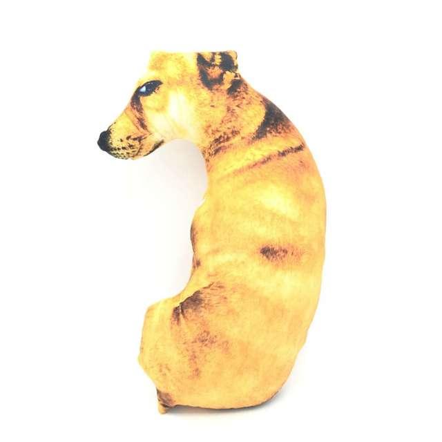 Cammitever 3d 50 cm angry staring dog 디지털 전신 개 모양 동물 맞춤 제작 장식 쿠션 소파 베개 장난감을 던져