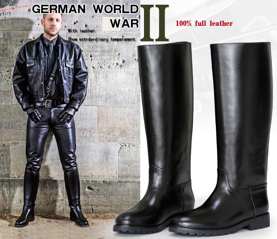 f13aa9531cd US $142.4 20% OFF|amibu Men's Man Motorcycle Police Engineer Trooper Patrol  Leather Tall Riding Boots on Aliexpress.com | Alibaba Group