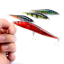 1Pcs 10cm 10g Color Painted Minnow Fishing Baits Lures Suspend Isca Artificial Pesca With 6# Hook For Boat