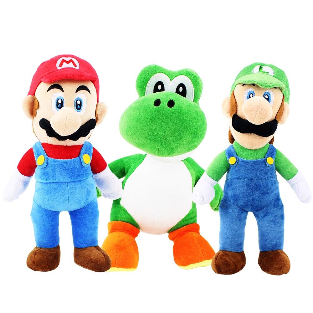 Big Size 38cm Super Mario Bros Plush Toy Mario Luigi Yoshi Dragon